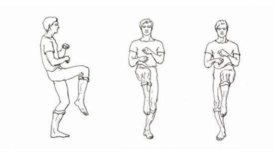 упражнение шаги на месте