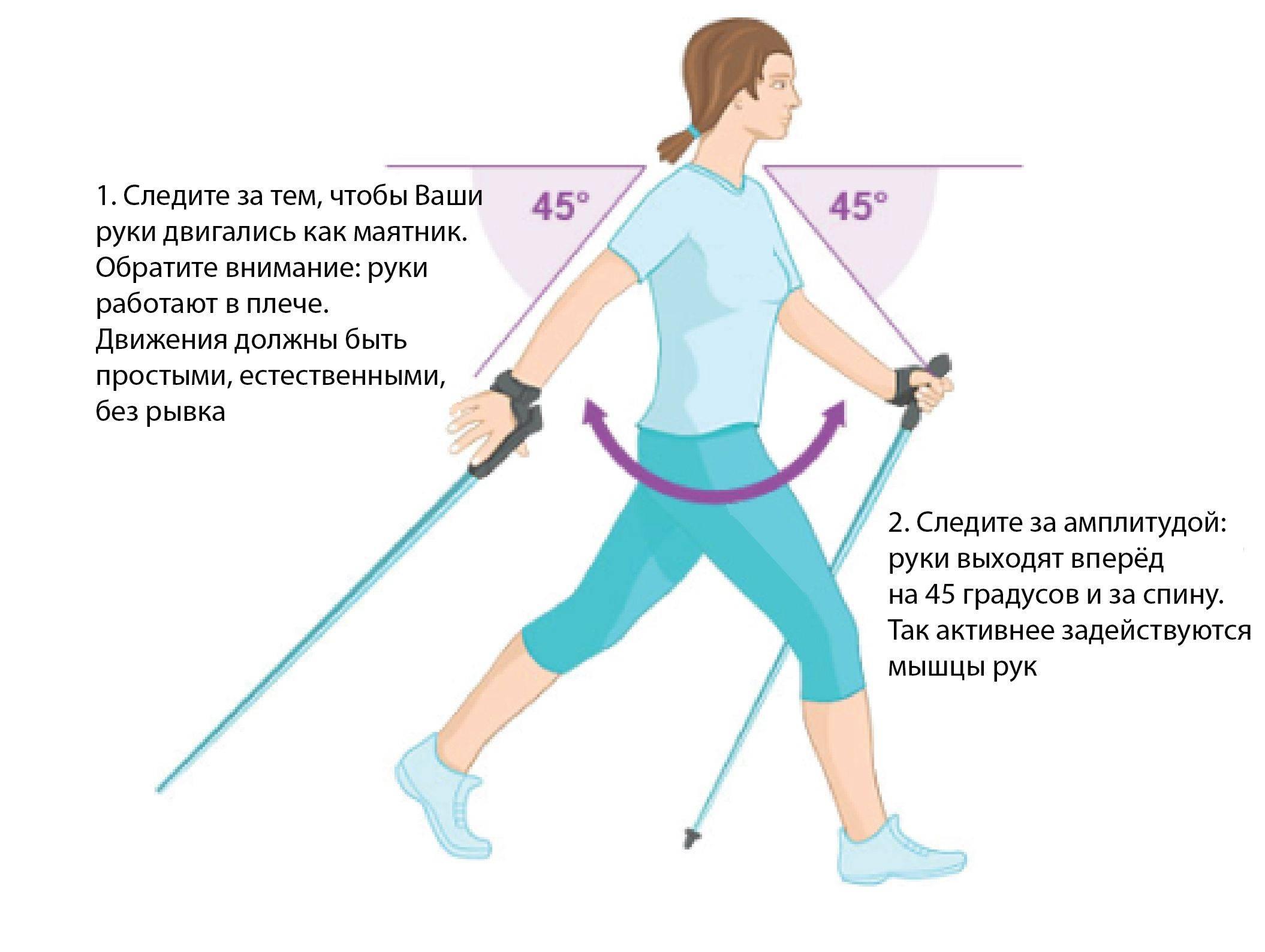 Скандинавская ходьба против лишнего веса