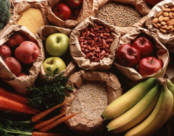 овощи, крупы, фрукты