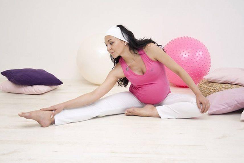 Всю беременность занималась гимнастикой