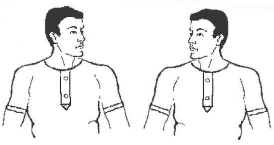 упражнение повороты и наклоны головы