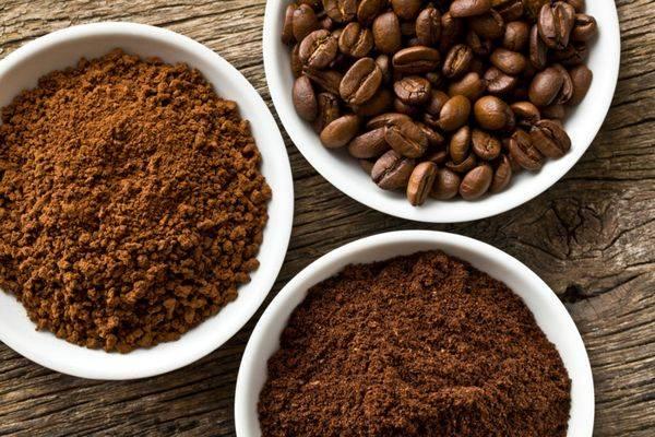 кофе растворимы и зерновой